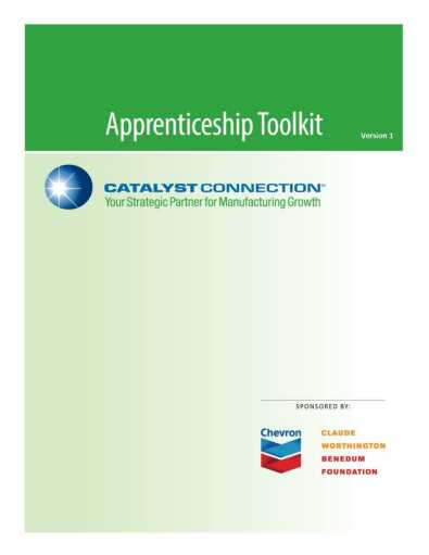 Manufacturing Apprenticeship Toolkit Cover