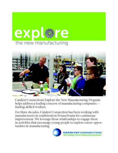 Explore the New Manufacturing Brochure Cover