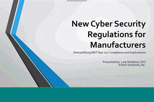 New Cybersecurity Regulations for Manufacturers