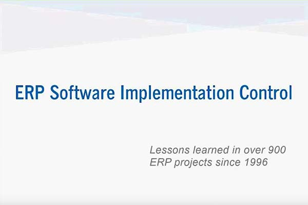 ERP Implementation Control – Radical Project & Cost Control Techniques