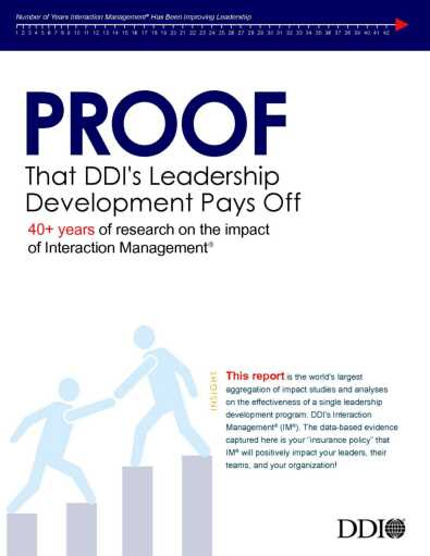 Proof that DDI Leadership Development Pays Off