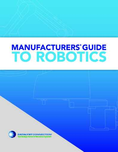 Manufacturers Guide to Robotics Cover