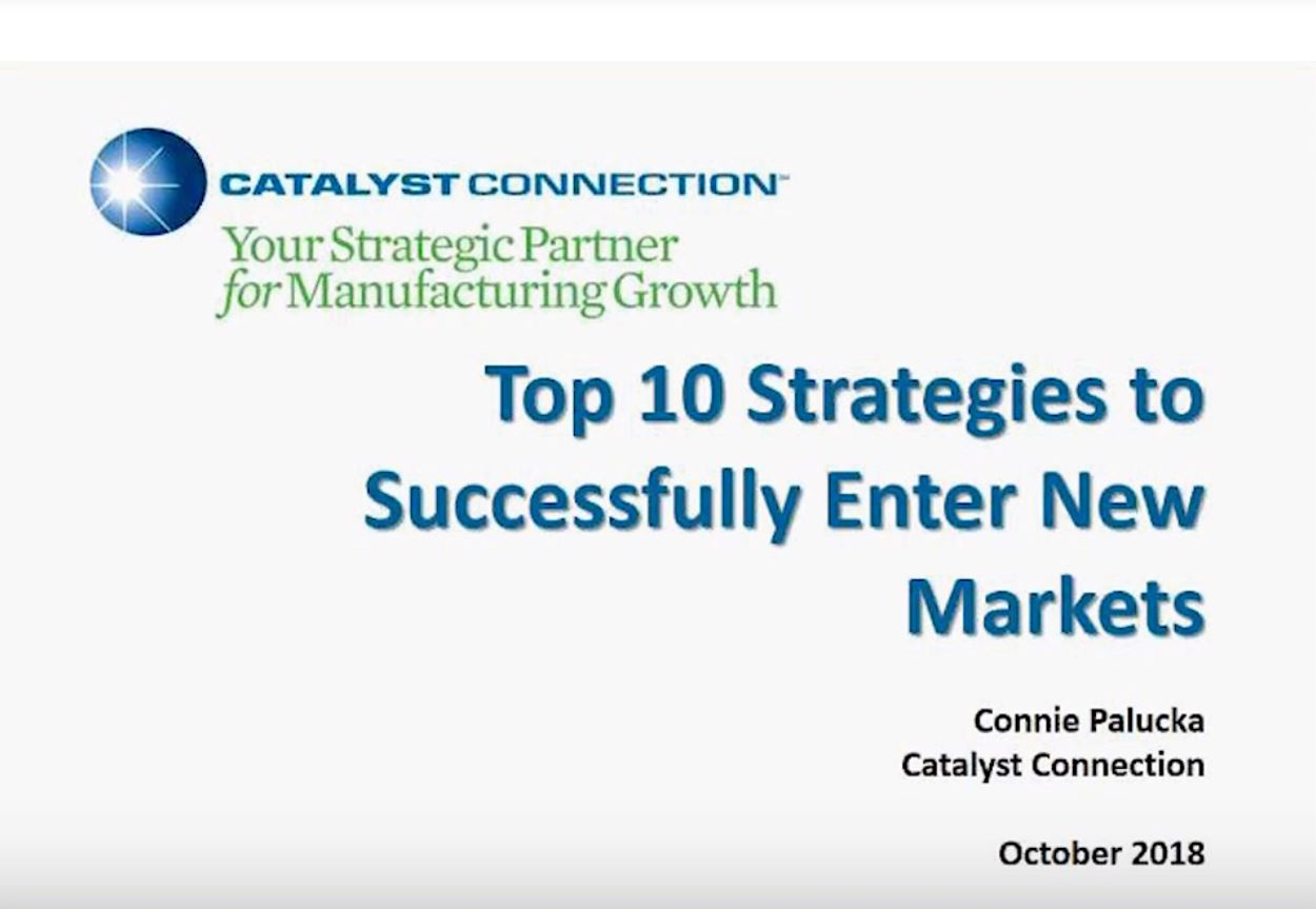 The Top 10 Strategies to Enter New Markets